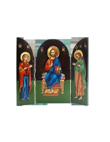 Ιησούς Χριστός, Παναγία, Άγιος Ιωάννης ο Πρόδρομος (τρίπτυχο)