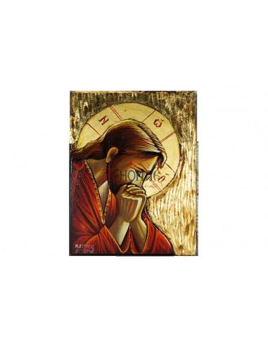 Ιησούς Χριστός προσευχών (χρυσή)